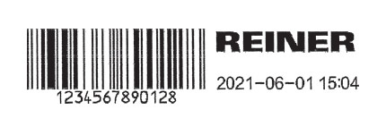 jetstamp graphic 970 print sample - barcode, logo, plain text