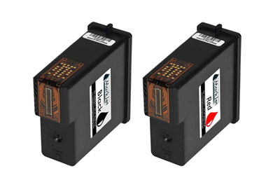 Black and Red water based cartridges for models 940 and 970