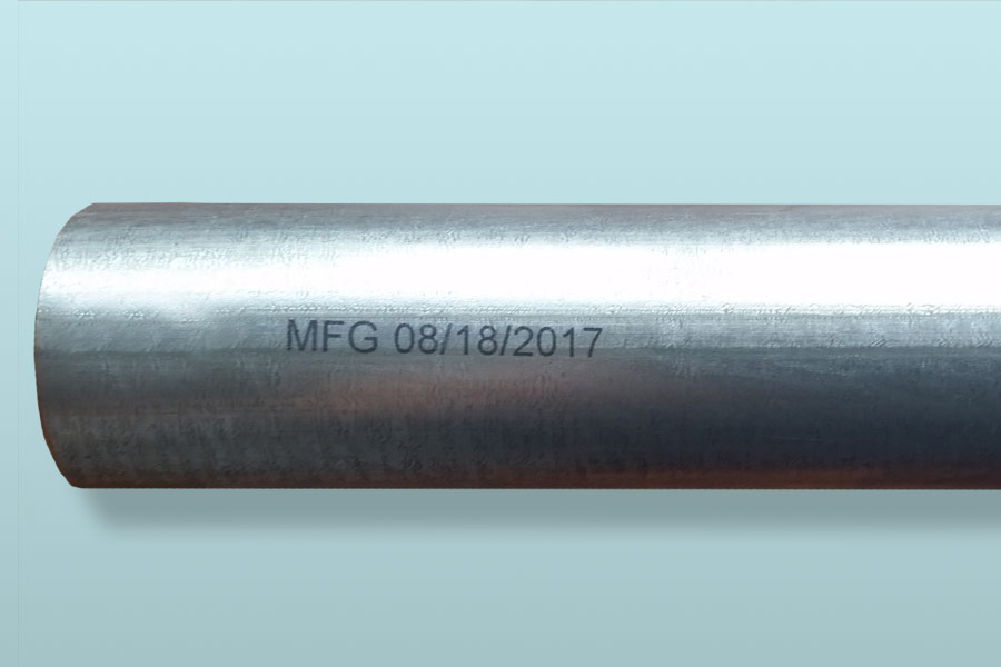 metal pipe with manufactured date