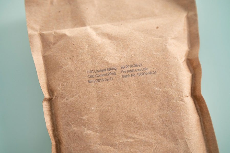 cannabis paper envelope bag