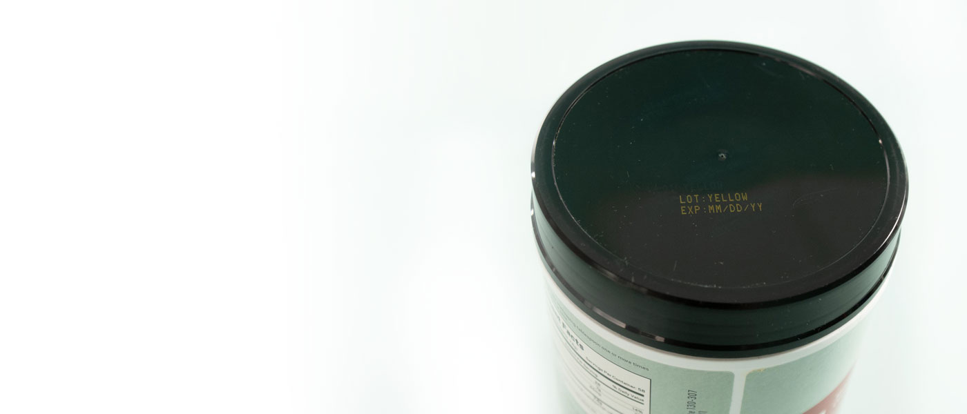header plastic jar