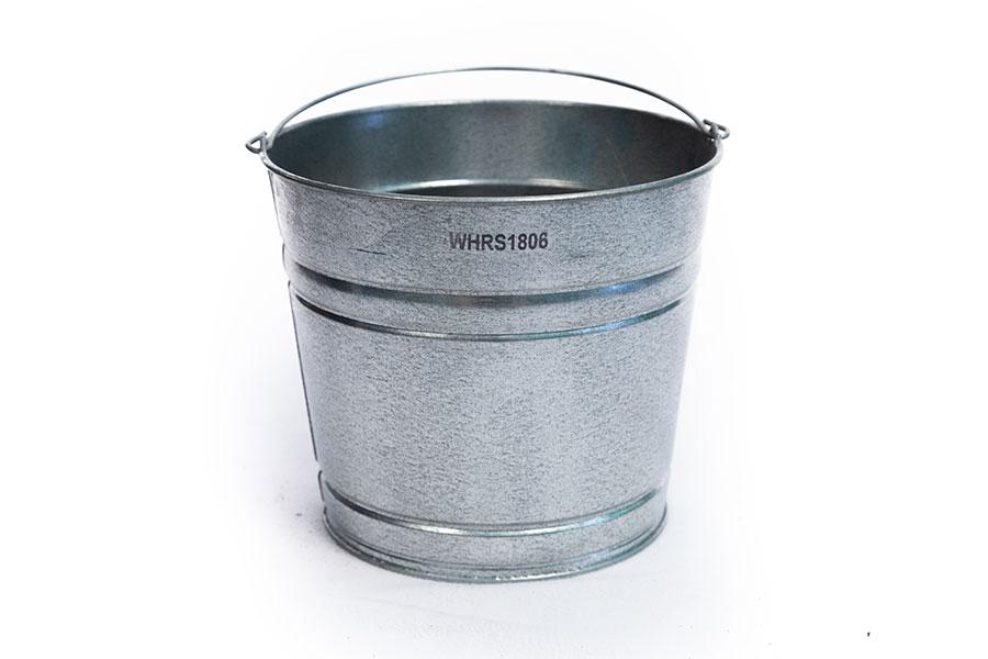 metal bucket with SKU
