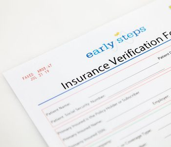Insurance form with red ink faxed date and time