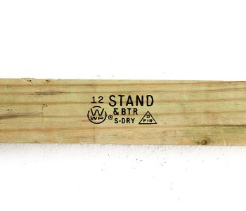 wood with logo and label